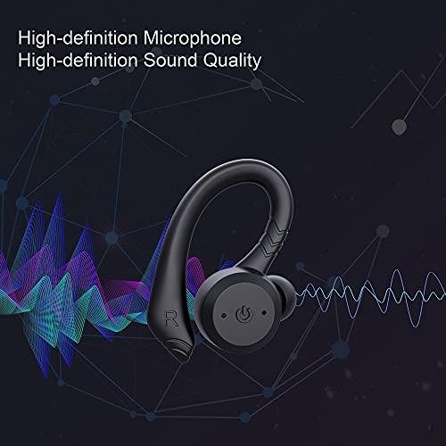 Cuffie Bluetooth5.1, Wireless Auricolari Bluetooth in Ear con Microfono, USB-C, Auricolari Sport Running Con Stereo, 24 ore di Riproduzione Cuffie, IPX7 Impermeabili Cuffie Senza Fili, per IOS Android