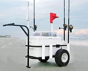 Mar Striker brsc-dlx Deluxe camino de playa pesca carro con ruedas neumáticas: Amazon.es: Deportes y aire libre