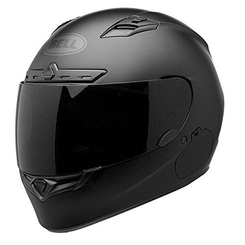 Bell Qualifier DLX Blackout Full-Face Motorcycle Helmet (Solid Matte Black, X-Large)
