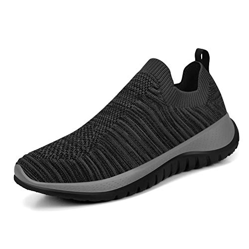 KIKOSOCKS Womens Sneakers Running Shoes Lightweight Fashion Sport Sneakers Casual Walking Athletic Non Slip Dark Grey1 7 M US