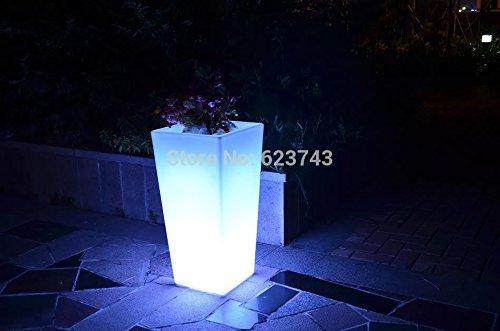 24Keys Remote 16 Colors Rumba Led flower Plant Pot LIGHT Up Furniture Waterproof,illuminated LED Ice Bucket ()