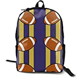 KIDHJU College Student School Backpack - Canvas Baltimore Ravens Fabric (1623) Brand - Unisex Youth