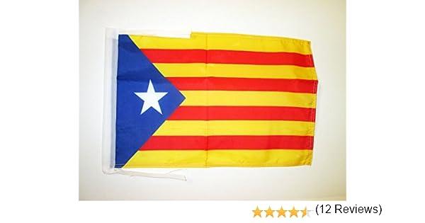 AZ FLAG Bandera de CATALUÑA ESTELADA BLAVA 45x30cm - BANDERINA CATALANA INDEPENDENTISTA – Catalunya 30 x 45 cm cordeles: Amazon.es: Hogar