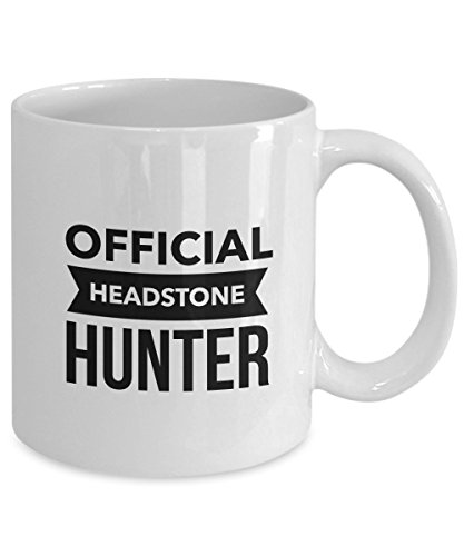Genealogy Gift Coffee Mug – Headstone Hunter – Inexpensive, Funny Idea for Genealogists for Christmas, Holidays, Birthday, or Just Because ()