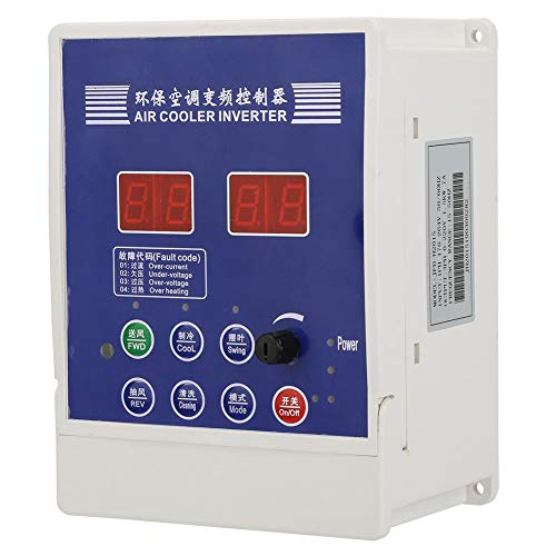 AC 220V VFD Single Phase Inverter Frequency Converter,1.5KW VFD Drive Inverter with Remote Control for Fans, Air Conditioners, Motors