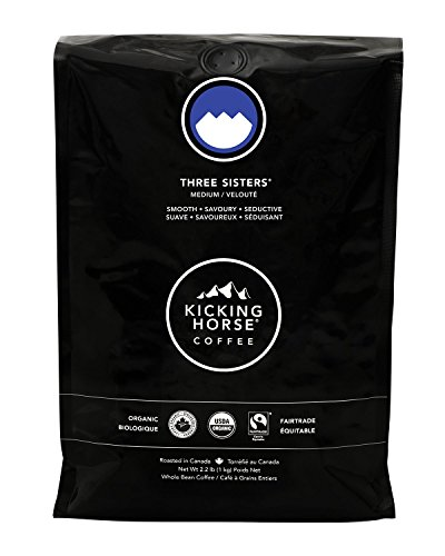 Kicking Horse Coffee, Three Sisters, Medium Roast, Whole Bean, 2.2 lb - Certified Organic, Fairtrade, Kosher ()