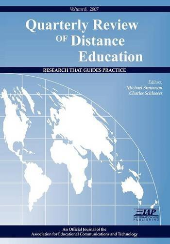 Quarterly Review of Distance Education Volume 8 Book (v. 8, issue 1, 2, 3)