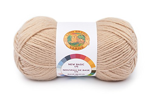 Lion Brand Yarn 675-123 New Basic 175 Yarn, Café Au - Au New