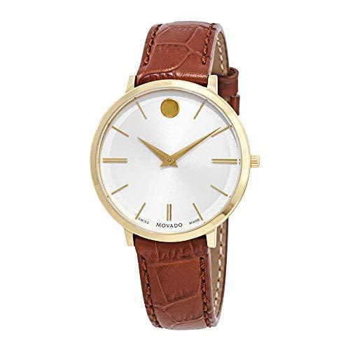 Movado Ultra Slim White Dial Ladies Watch 0607176