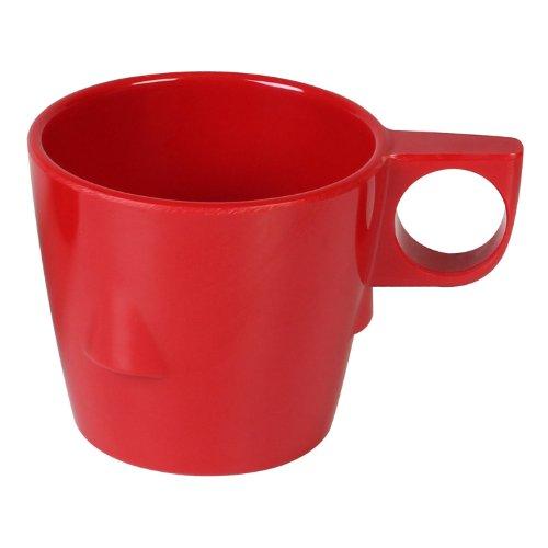 Mug Stacking Blue (Excellanté Crimson Melamine Collection 7-Ounce Stacking Mug, Pure Red, 12-Piece)