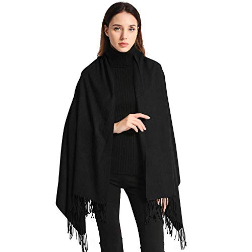 Arctic Penguin Women's Wraps and Shawls Elegant Soft Pashmina Scarf, Black, Size 78.5X27.5
