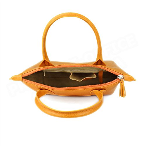 Sac Cabas Marie cuir Orange Beaubourg
