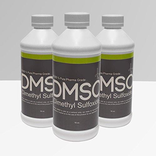 3 Bottles of 16 oz Low Odor DMSO 99.995% Pure Pharma Grade, BPA FREE by DMSO Store