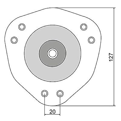 4er Set SO-TECH® Tischbeine/Höhe 710 mm/Höhenverstellbar/Ø 60 mm/WEIß/Tragkraft bis 75Kg je Fuß/Schreibtischbeine…