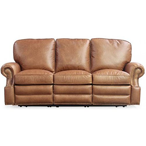 Reclining Leather Saddle - Barcalounger Longhorn II Leather Reclining Sofa Chaps Saddle Top Grain Leather Chair with Espresso Wood Legs - Standard Ground Curbside Delivery in Lower 48 States Only