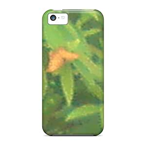 Anti-Scratch Hard Cell-phone Cases For Iphone 5c With Unique Design Beautiful Butterfly Pattern ErleneRobinson