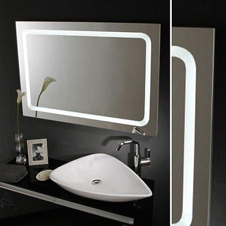 Oramics Miroir de salle de bain avec lumière intégrée Extra ...