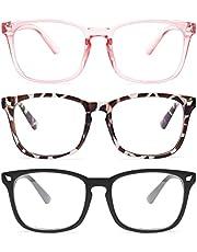 Blue Light Glasses, Blue Light Blocking Glasses, Computer Gaming Glasses for Women Men, Anti Eyestrain & UV Glare