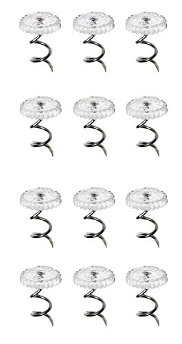 Learn More About 12 Bedskirt Pins with Clear Heads - Twisty Fabric Pin to Hold Bed Skirts in Place -...