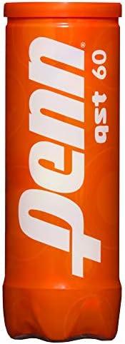 Penn Bolas de tênis QST 60 – Bolas de tênis laranja de feltro para iniciantes