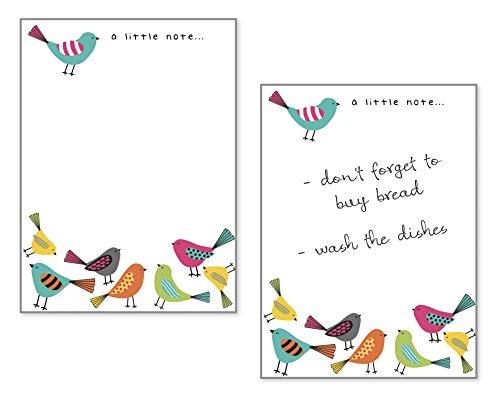Set of 2- Bright Birds Memo,