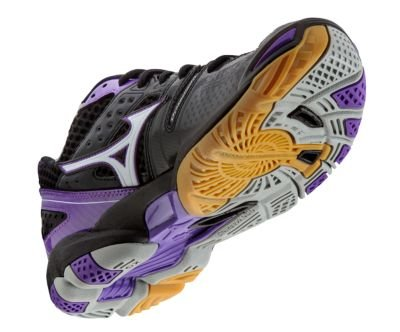 Mizuno Vrouwen Wave Tornado 9 Woms Bk-pr Volleybal Shoe Black-purple