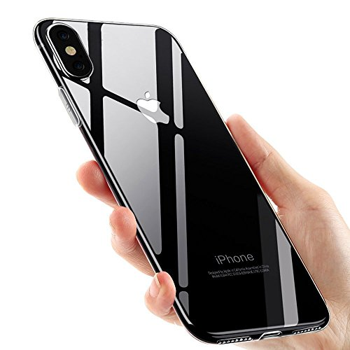 IHC iPhone X Ultra Thin [Slim Fit] Crystal Clear Soft Flexible TPU Case - [Enhanced Screen & Camera Protection] [Wireless Charger Compatible]