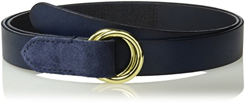 House of Boho Pull-Back 100% Leather Belt Medium Navy (Pull Navy)