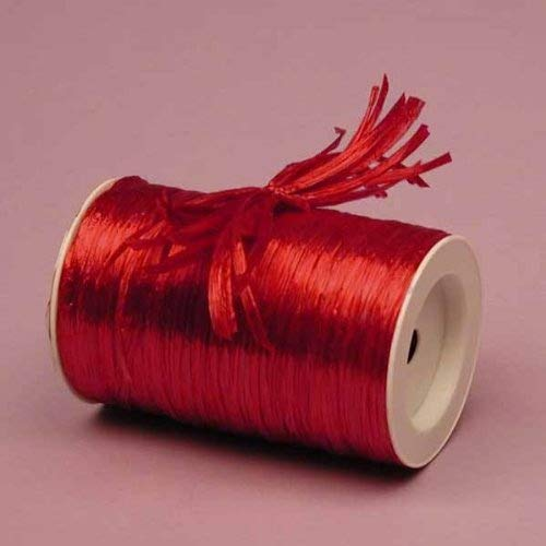 Premium Quality Rayon Raffia Ribbon - 1/4 Inch X 100 Yards (Red Pearlized) by Raffia Ribbon Inc   B01725XSJ0