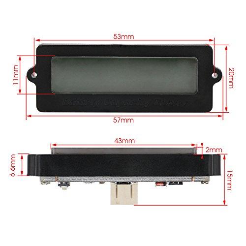 DROK Battery Meter, Blue Back-Light LCD Battery Capacity Monitor DC 8-63V Digital Battery Tester Automotive, Lithium ion Battery Electric Quantity Detector 12V 24V 36V 48V Lead Acid Battery Status by DROK (Image #6)