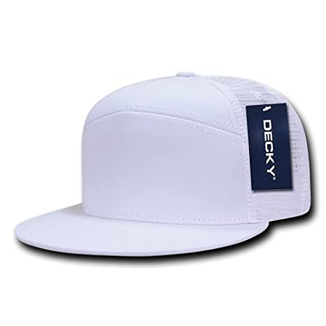 fb98548c131bf Image Unavailable. Image not available for. Color  DECKY 1133-WHT 7 Panel  Trucker ...