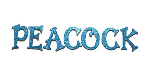 Peacock / Aqua Blue Metallic Glitter HandCut 1.5