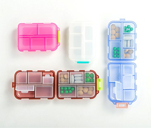 Yeeho Pill Case (3 Pack) - Portable Small Supplements Tablet Container Box with 10 Compartments - Medicine Capsule Vitamin Fold Flip Organizer Dispenser Holder Storage for Travel Trip Pocket Purse by YEEHO (Image #7)