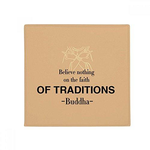 DIYthinker Faith of Traditions Buddha Quote Buddhism Anti-slip Floor Pet Mat Square Bathroom Living Room Kitchen Door 60/50cm Gift by DIYthinker