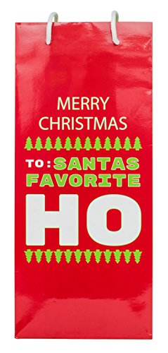 Funny Holiday Season Christmas Gift Bags (Wine, Santa's Favorite Ho)