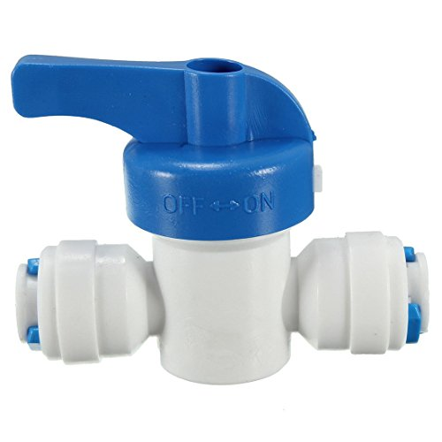 Water ball valve - TOOGOO(R)6mm 1/4 ''ball stopcock ball valve with clutch stopcock RO System by TOOGOO(R) (Image #1)