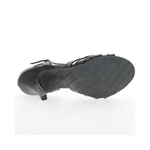 Escarpins grande taille noirs à talons de 12cm ouverts