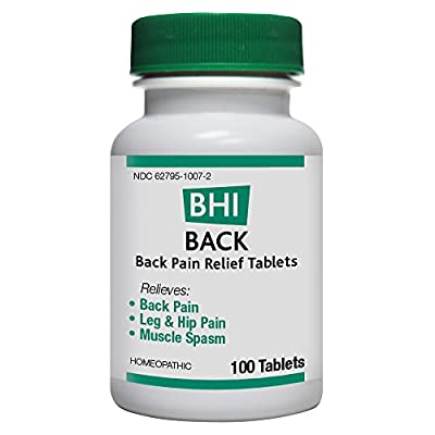 BHI Back Pain Relief Tablets, 100 Count