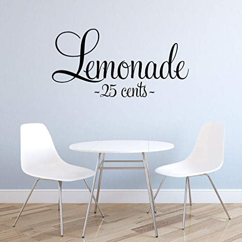 BYRON HOYLE Lemonade 25 Cents Quote, Kitchen Wall Decor, Lemonade Stand Decal DIY Sign -