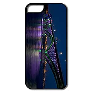 IPhone 5/5S Case, Peace Bridge Night White/black Covers For IPhone 5S
