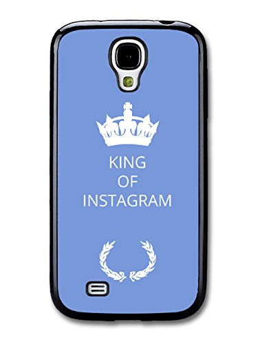 New Funny King of Gift Idea on Light Blue Design coque pour Samsung Galaxy S4