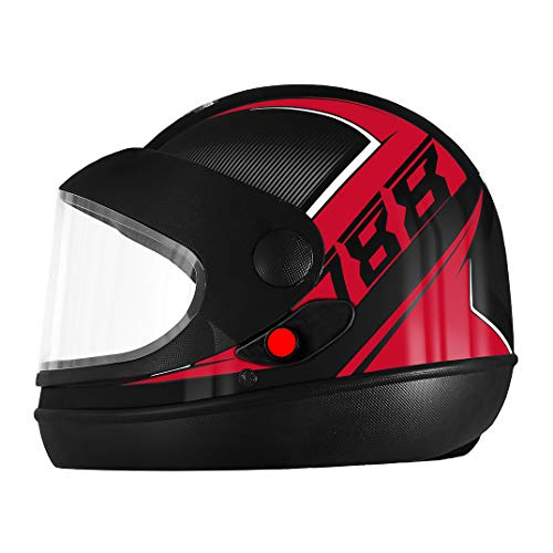 Pro Tork Capacete Super Sport Moto 2019 56 Preto/Vermelho