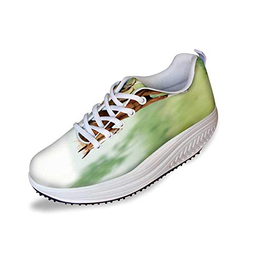 - Horse Decor Stylish Shake Shoes,Running Chestnut Horses Mare and Foal Meadow Scenic Summer Day Outdoors for Women,5