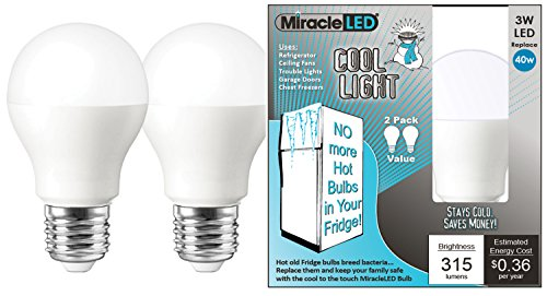 Miracle LED 604011 Refrigerator and Freezer Light, A14, L...