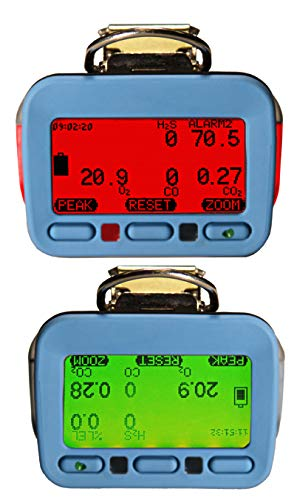 cc LEL GfG Instrumentation G460-1103200040 Portable O2 HCN Detector NiMH with Lights COSH