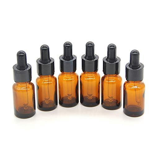 One Trillion, 5ml Botellas de Vidrio de azul Vacías con Cuentagotas de Vidrio, Para Aceites Esenciales, Aromaterapia, Laboratorio Químico-12 piezas: ...