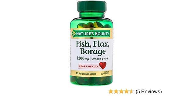 Amazon Com Nature S Bounty Fish Flax Borage 1200mg Omega 3 6 9