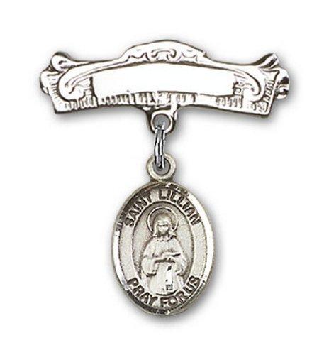 Icecarats Créatrice De Bijoux En Argent Sterling St. Lillian Charme Broches Badge Arc 7/8 X 7/8