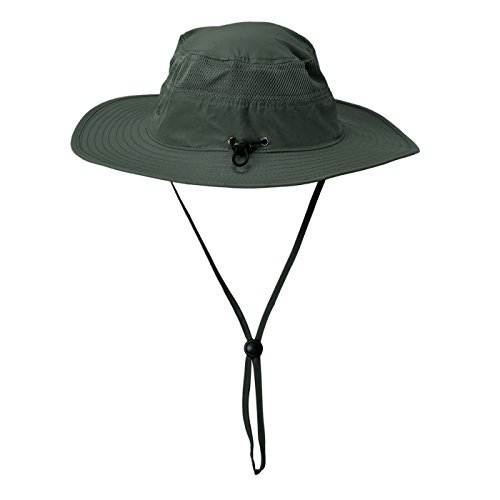 HDE Nylon Boonie Hats for Men - Wide Brim Outdoor Sun Hat Fishing Cap for Boating, Hiking, Summer Sun Protection