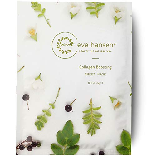Eve Hansen Collagen Sheet Mask| Cruelty Free, Natural Hydrating Face Mask for Wrinkles and Dark Spots | Single Face Sheet Mask